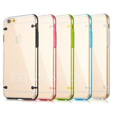 High Quality Clear Hard Back TPU Bumper Cover Case For iphone + Screen Protector
