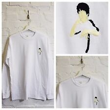 Actual Fact BRUCE LEE Bordado Blanco Artes Marciales Camiseta manga larga