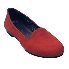 Salt N Pepper 14-217 Angle Red Suede Leather Women Casual Ballerinas Shoe