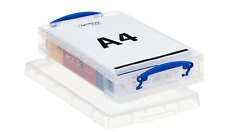 Really Useful 9L 4L Box A4 Ream Paper Card Storage Plastic Clear Pen Hobby Tray