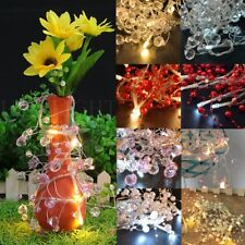 Colorful Beads Crystal 10LED String Flash Light Christmas Fairy House Decor Lamp