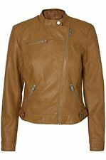 Vero Moda - VMLINA Women's Short Faux Leather Biker Jacket