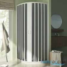 QUADRANT SHOWER ENCLOSURE CUBICLE CENTRAL FOLDING DOORS PVC PANEL SCREEN H1850