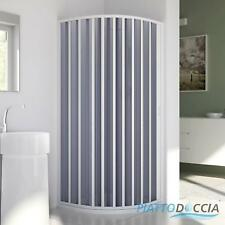 QUADRANT SHOWER CUBICLE ENCLOSURE PVC SCREEN FOLDING DOOR PANEL H1850