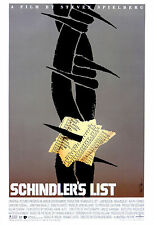 """"""" SCHINDLERS LIST """" Steven Spielbergs' CLASSIC POSTER DEL FILM A1 A2 A3 A4"""