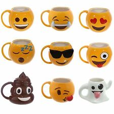 Novelty Emoji Emotive Emoti Tea Coffee Mugs Food Safe Great Gift Idea Boxed