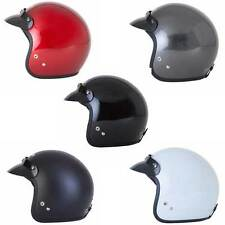 Spada Open Face Motorcycle EC 2205 Approved Plain Helmet All Colours & Sizes