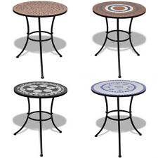vidaXL Table mosaïque multicolore Table d'appoint Sellette Support porte plantes