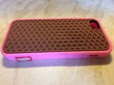 Pink And Brown iPhone 5/5s Silicon Phone Case