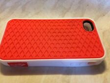 Red And White iPhone 4/4s Silicon Phone Case