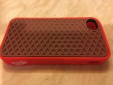 Red And Brown iPhone 4/4s Silicon Phone Case