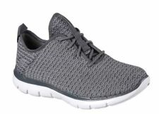 Skechers SK12773 Flex Appeal 2.0 Bold Move charcoal grey ladies trainer 3-8