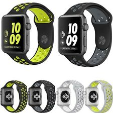 Replacement Silicone Sport Band Bracelet Strap For Apple Watch iWatch 38/42mm UK