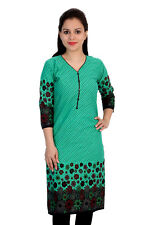 Skybe Green Printed Kurtis For Women's & Girls