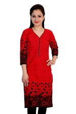 Skybe Red Printed Kurtis For Women's & Girls