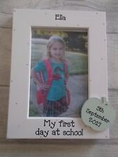 Personalised First Day At School Apple Photo Frame Gift 6X4 5X7 8X6 10X8