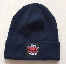 ECKO UNLIMITED RHINO LABEL CUFFED BEANIE HAT - NAVY BLUE - ONE SIZE - **NEW**