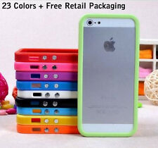Bumper Frame Case Stylish Cover for Iphone 5/5C/5S + Free Screen Protector&cloth