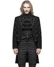 Devil Fashion hommes gothique QUEUE DE PIE Veste Noir Damas Steampunk Régence
