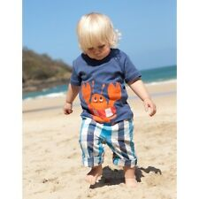 FRUGI ORGANIC COTTON CHECKED ROLL UP TROUSERS 0-3mths  - BNWT.  RRP £25