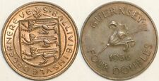 1902 to 1956 Guernsey Bronze 4 Doubles Your Choice of Date