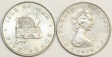 1968 to 1990 Isle of Man Cupro Nickel Large 5p Your Choice of Date