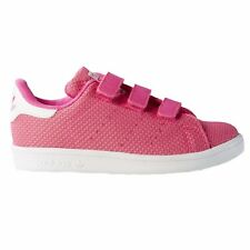 adidas Originals Stan Smith Girls Trainers Pink Knitted NEW S79437