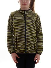 CMP giacca in pile Cardigan Giacca Funzionale Giallo a strisce knittech