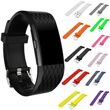 Replacement Soft Silicone Sports Watch Band Strap Bracelet For Fitbit Charge 2