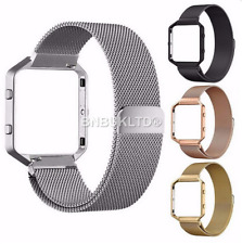 Milanese Stainless Steel Strap Watch Band + Frame For Fitbit Blaze Tracker