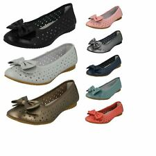 Ladies Down To Earth F80207 Leather Ballerina Shoes Label ~ K