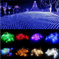 96/200/880 LED Malla de Red Luces Brillante Boda Navidad Hada Lámpara decoración