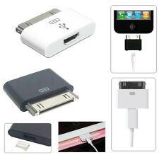 8Pin Lightning Compatible Female to 30Pin Male Adapter for iPhone iPad iPod