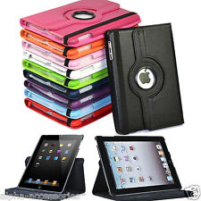 Funda de cuero rotación 360º para Apple iPad 4 3 2, iPad Mini 4 3 2 iPad Air 2