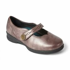 Padders Plus+ KAY Ladies Womens Leather Super Wide Fit Mary Jane Shoes Rose Gold