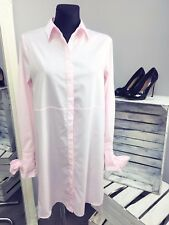 ASOS Cotton Shirt Dress with Oversized Cuff & Bow Detail RRP £38 (AS-19/21)