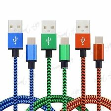 Type C to USB 3.1 Data Sync Charging Cable Charger Lead Nylon Braided Cord Phone