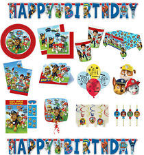 Paw Patrol Kids Party Tableware Decorations Birthday Partyware Plates Cups