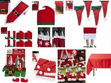 Christmas Table Cutlery Decorations Santa, Naughty Elf Reports & Many More Items