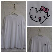 Actual Fact Hello Kitty Wu Tang Clan Japonés DIBUJOS BLANCO CAMISETA MANGA LARGA