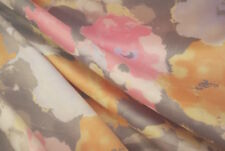 Impressionist Style Floral Satin Fabric - Sold by the Continuous Metre & Samples