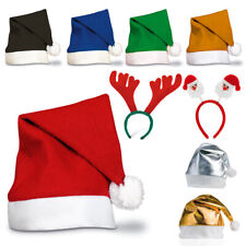 1-25 X Colourful Red Adult Unisex Christmas Santa Hat  Reindeer Party Xmas Lot