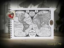 Personalised Map Scrapbook A4 Our Adventure Book, Photo Album, Gift Idea