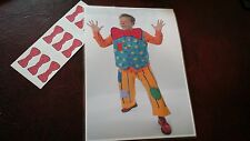 MR TUMBLE STICK THE BOW TIE ON MR TUMBLE CHILDRENS PARTY GAME - HANDMADE & READY