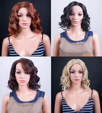 Ladies Forever Young Blonde Brown Auburn Mid Length Curly Wig Full Wig UK Wigs