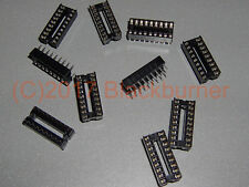 IC Fassung Sockel 18-Pin DIL DIP18 IC Socket PCB Mount Connector 2, 5, 10Stck.