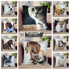 "Luxury Digital Printed 3D Animal Themed Square Cushion Covers & Filled  18""x18"""