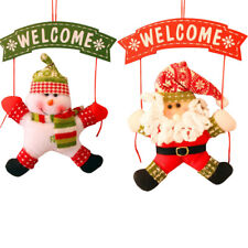 Christmas Decoration For Home Ornament Santa Claus Snowman Door Xmas Gifts