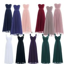 Women Formal Bridesmaid Chiffon Long Maxi Dress Cocktail Evening Party Prom Gown