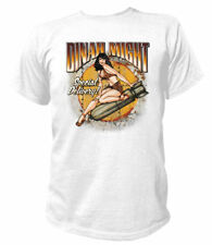 T-Shirt Rockabilly Dinah Might Special Delivery Pin-up Vintage V8 Ratty Rod USA